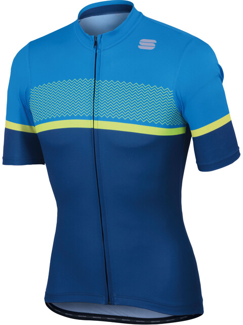 Sportful Frequence Jersey Men twilight blue /electric blue/yellow fluo